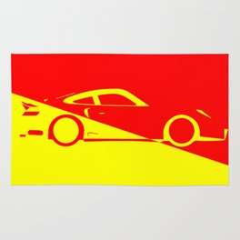 Fast Car Abstract Rug