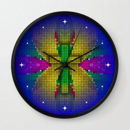 Cross Art - (God is always Colorful) Wall Clock