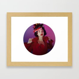 Japanese Red Lipstick Lust Framed Art Print