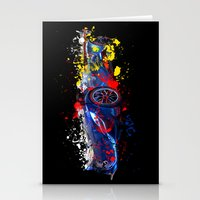sport Stationery Cards featuring sport car by mark ashkenazi
