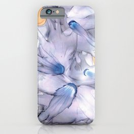 Lavender Floral Abstract: Original Alcohol Ink Painting iPhone Case