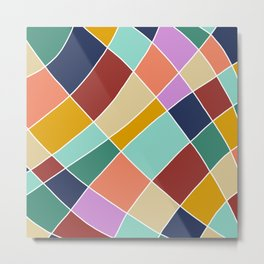 Abstract Retro Painting Metal Print