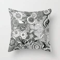 Going With The Flow[er] Throw Pillow