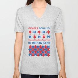 Gender Equality_02 by Victoria Deregus Unisex V-Neck