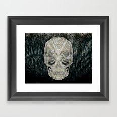 Twilight 4 Eyes Skull Framed Art Print
