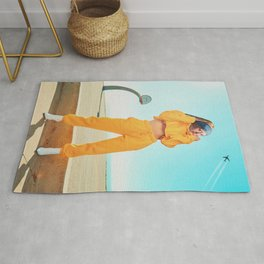 THE GIRL IN YELLOW JOGGERS Rug
