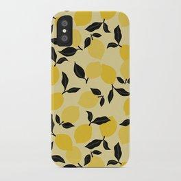 Seamless Citrus Pattern / Lemons iPhone Case