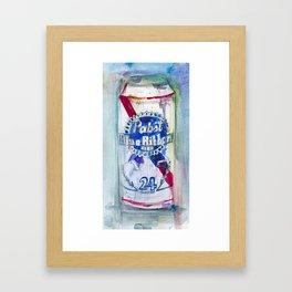 Pabst Blue Ribbon Beer Framed Art Print