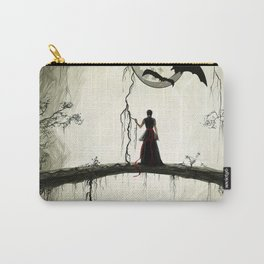 staring at the moom Carry-All Pouch