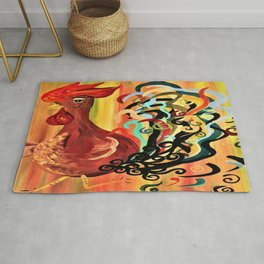 Curly Rooster Rug