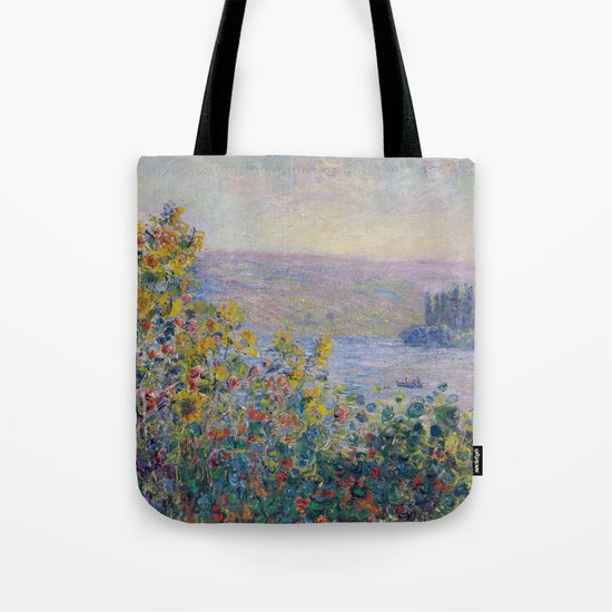Flower Beds at Vetheuil by Claude Monet by palazzoartgallery