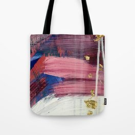 Los Angeles [3]: A vibrant, abstract piece in reds and blues and gold by Alyssa Hamilton Art Tote Bag