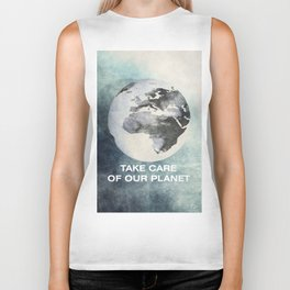 Take care of our planet #2 Biker Tank