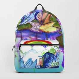 The blue lily water Backpack