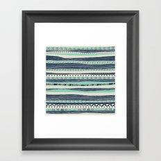 aztec color variation Framed Art Print
