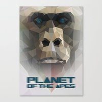 ape Canvas Prints featuring ape by muszka