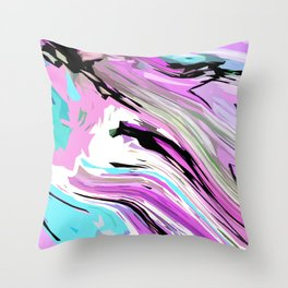 Marbled Lilac Throw Pillow