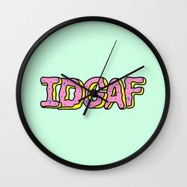 IDGAF Pink Donuts Wall Clock