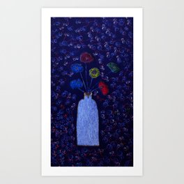 Electric Vase  Art Print