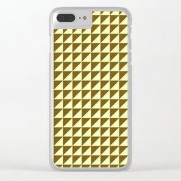 Ocre Triangulate Clear iPhone Case