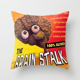 """The Brain Stalk"" Movie Poster Throw Pillow"