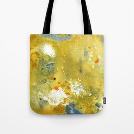 Abstract Acrylic Painting YELLOW Tote Bag