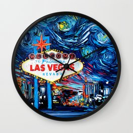 van Gogh Never Saw Vegas Wall Clock