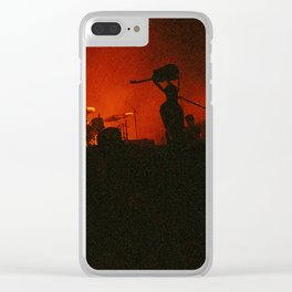 if music had a color it'd be red Clear iPhone Case