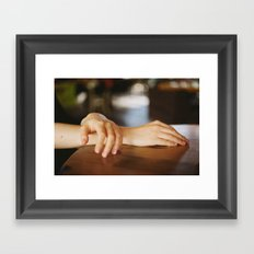 Glimpses of skin Framed Art Print