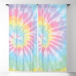 Pastel Tie Dye Blackout Curtain