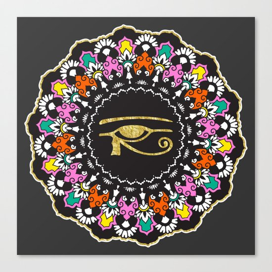 Eye of Horus Mandala Canvas Print