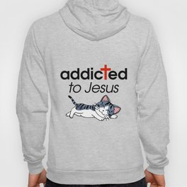 addicted to jesus cat enjoy sleep jesus Hoody