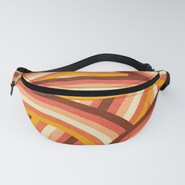Vintage Orange 70's Style Rainbow Stripes Fanny Pack