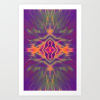 psychedelic Art Prints featuring Psychedelic by chey691