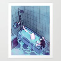 bath Art Prints featuring Bath  by BrimRun