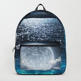 Full Moon over Ocean Backpack