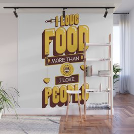 I Love Food Wall Mural