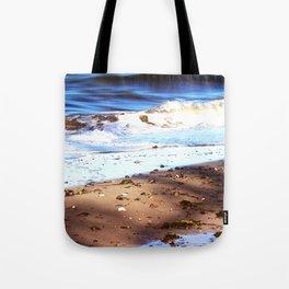 Waves Sand Stones Tote Bag