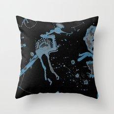 Blue Bird Lizard Throw Pillow