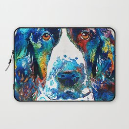 Colorful English Springer Spaniel Dog by Sharon Cummings Laptop Sleeve