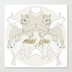 Miss You (Kitsch Symmetry series)  Canvas Print