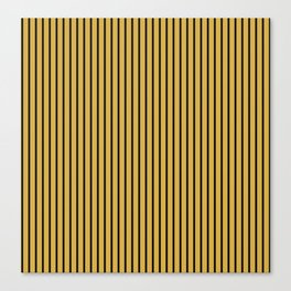 Spicy Mustard and Black Stripes Canvas Print