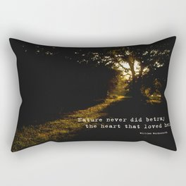 The heart that loved her. Rectangular Pillow