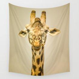 Giraffa's portrait Wall Tapestry