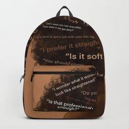 Black Hair Backpack