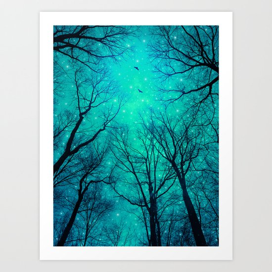 A Certain Darkness Is Needed II (Night Trees Silhouette) Art Print