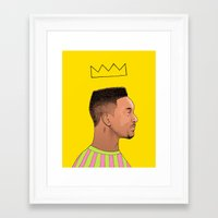fresh prince Framed Art Prints featuring Fresh Prince by Fresh Prints