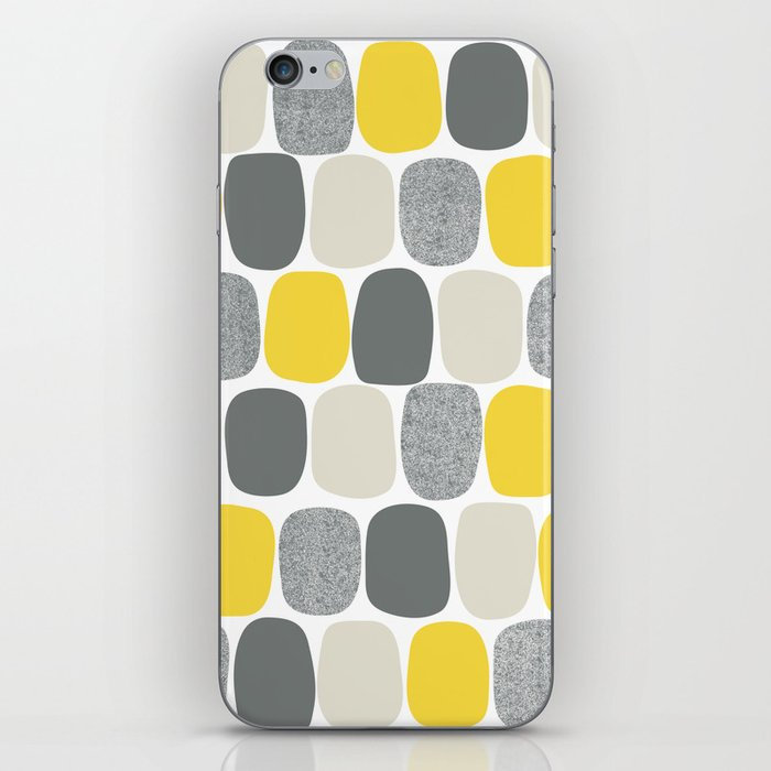 Wonky Ovals in Yellow iPhone Skin