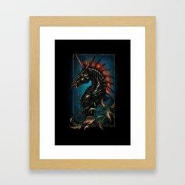 Dark Side Unicorn | Digital Painting Framed Art Print