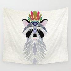 raccoon spirit Wall Tapestry